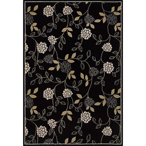Oriental Weavers Aspire 8 x 11 Area Rug : Black