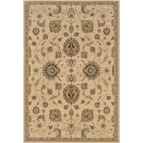 Oriental Weavers Aspire  10 x 13 Area Rug : Tan
