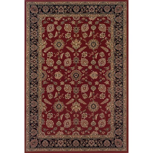 Oriental Weavers Aspire Bordered 6.7 x 9.6 Area Rug : Red