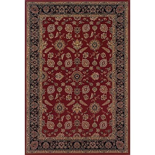 Oriental Weavers Aspire Bordered 8 x 11 Area Rug : Red
