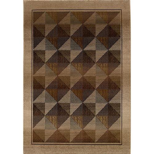 Oriental Weavers Glory Diamond 5.3 x 7.6 Area Rug : Brown