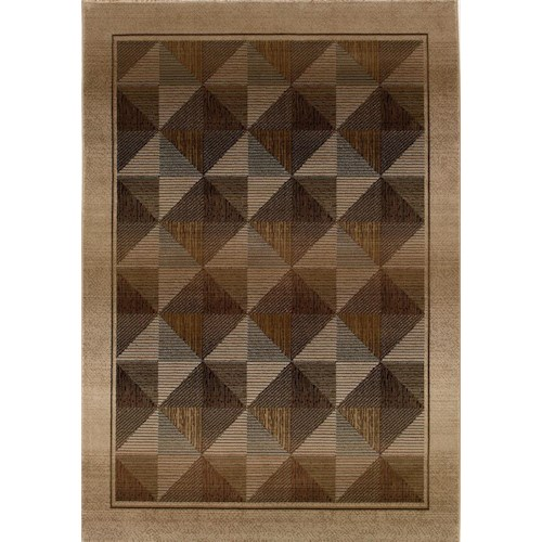 Oriental Weavers Glory Diamond 10 x 11 Area Rug : Brown