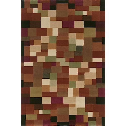 Oriental Weavers Grandeur 8 x 11 Area Rug : Brown