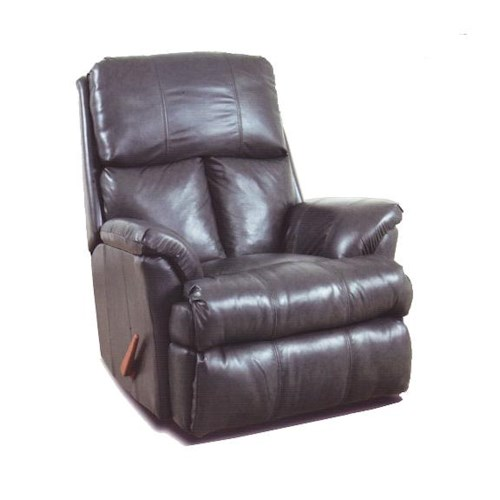 Ort Manufacturing Reserve Seating 100% Leather Chaise Rocker Recliner