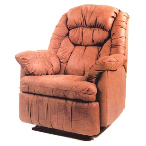 Ort Manufacturing Leathermate Rocker Recliner with Coil Seating