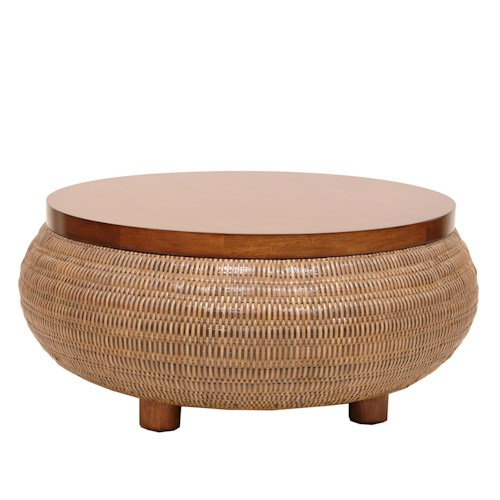 Palecek Occasional Tables Split-Tone Woven Coffee Table