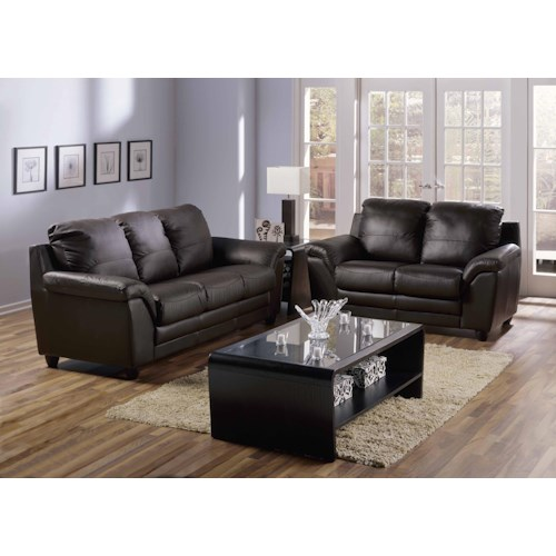 Palliser 75940 All Leather Sofa & Loveseat
