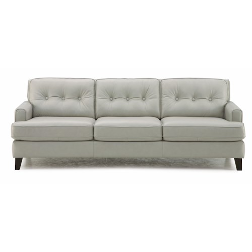 Palliser Barbara Transitional Stationary Sofa with Tapered Wood Legs