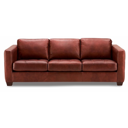 Palliser Barrett  Contemporary Sofa with Decorative Track Arm and Cushion Tufting