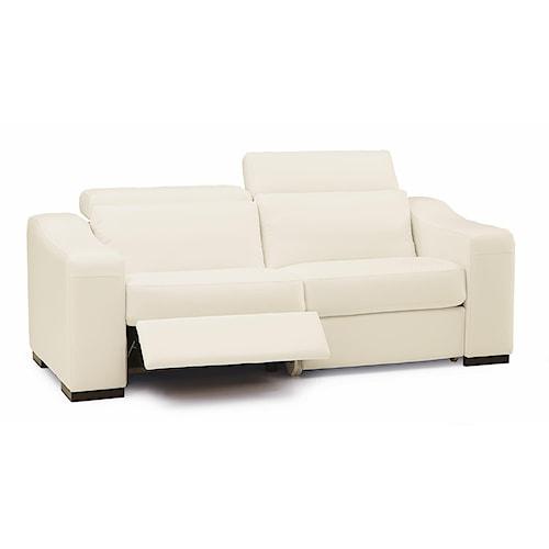Palliser Cortez II Modern Sofa Recliner w/ Block Feet