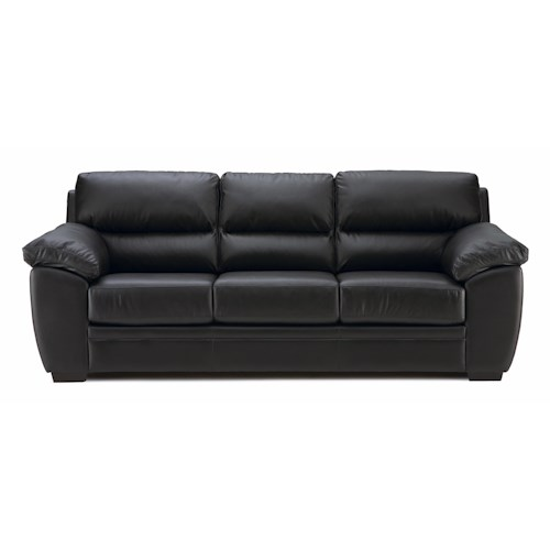 Palliser Cypress Contemporary Sofa with Pillow Arms and Bustle Back