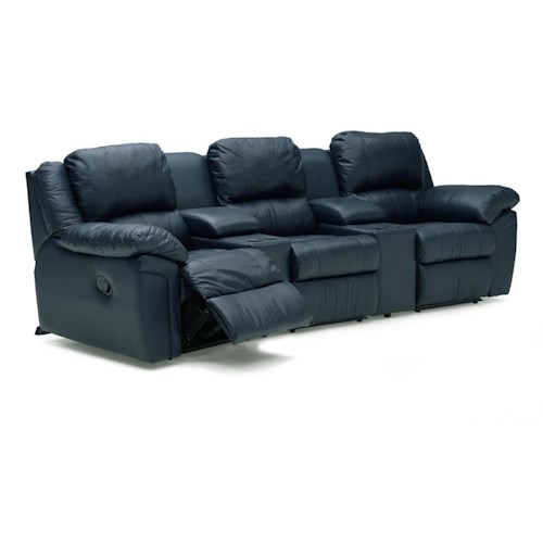 Palliser Daley 41162 Reclining Sectional with Pull-out Bed