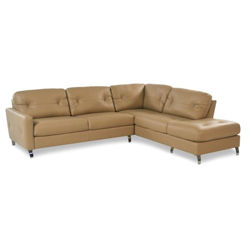 Palliser Berkley 2PC Contemporary Leather Sectional