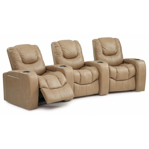 Palliser Equalizer Three Piece Power Reclining Home Theater Sectional
