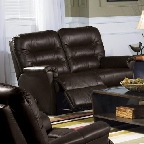 Palliser Mila Love Recliner with Channel-Tufted Back