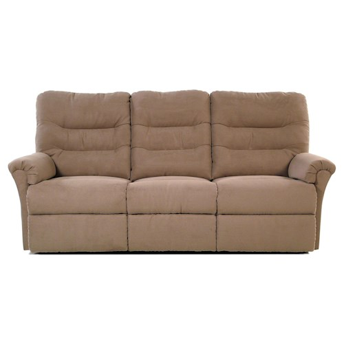 Palliser Mila Sofa Recliner with Channel-Tufted Back