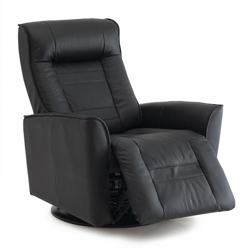 Palliser Glacier Bay Contemporary Power Swivel Glider Recliner with Flared Arms and Defined Headrest