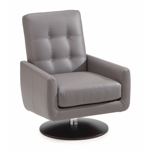 Palliser Halifax Contemporary Swivel Chair with Double Needle Topstitching