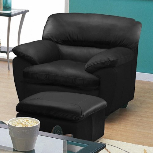 Palliser Harley Casual Upholstered Chair and Ottoman