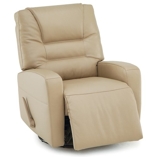 Palliser Highwood Contemporary Power Swivel Glide Recliner with Track Arms