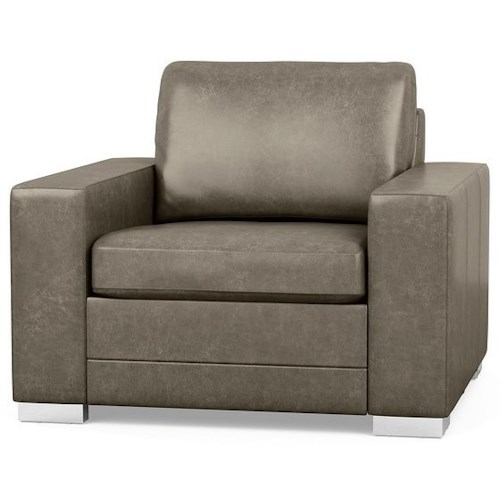 Palliser Inspirations Contemporary Chair with Wide Track Arms and