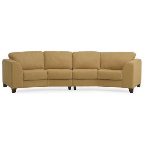 Palliser Juno Elements 77094 Four Seat Angled Sofa