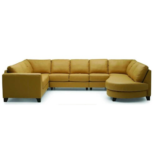 Palliser Juno Elements 77494 Left Arm Facing Corner Sectional w/ Bumper