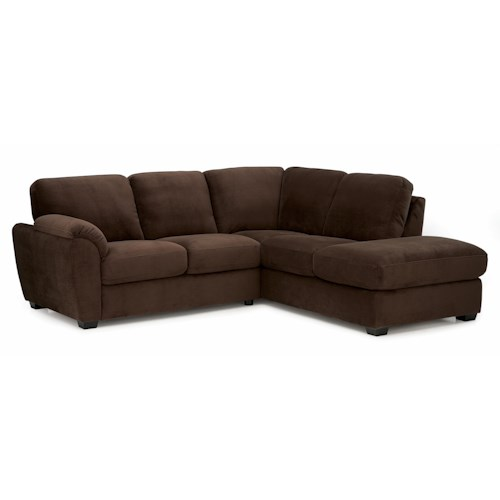 Palliser Lanza Casual Sectional Sofa with LHF Corner Chaise