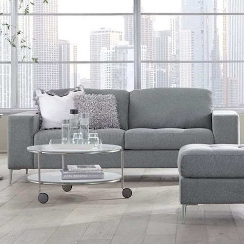 Palliser Mica Contemporary Sofa with Tufted Seat Cushions