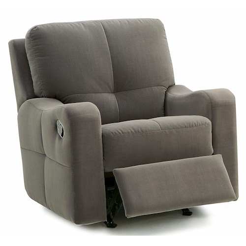 Palliser National Contemporary Power Rocker Recliner with Sloped Track Arms