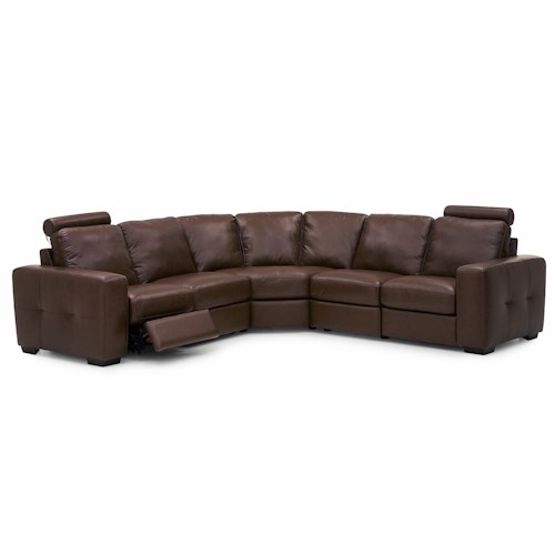 Palliser Push Contemporary Power Dual Reclining Sectional Sofa