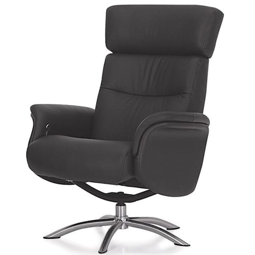 Palliser Quantum Contemporary Reclining Chair with Swivel Base and Adjustable Headrest