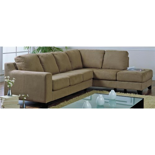 Palliser Reed Upholstered Sectional with attached Chaise