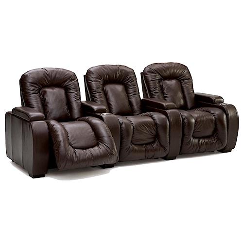 Palliser Rhumba 3-Piece Upholstered Reclining Theater Seating