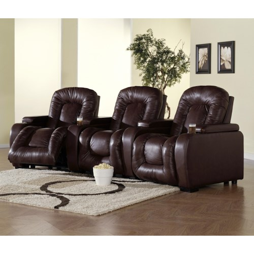 Palliser Rhumba 3-Piece Theater Seating with Power Reclining