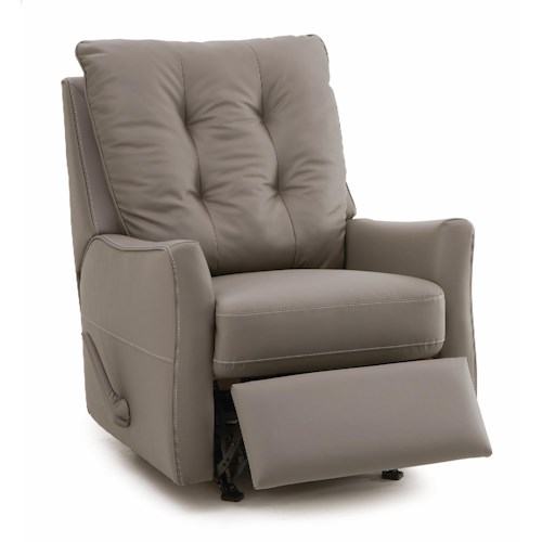 Palliser Ryan Contemporary Swivel Rocker Recliner with Button-Tufted Back