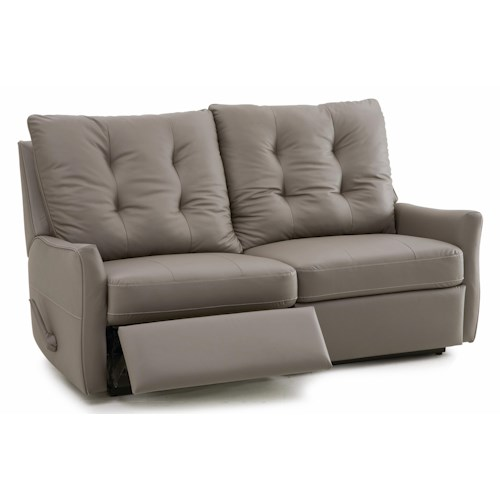 Palliser Ryan Contemporary Loveseat Recliner with Button-Tufted Back