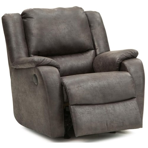Palliser Sawgrass Casual Swivel Rocker Recliner with Full Chaise Cushion