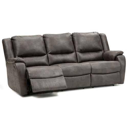Palliser Sawgrass Casual Power Reclining Sofa with Pillow Arms