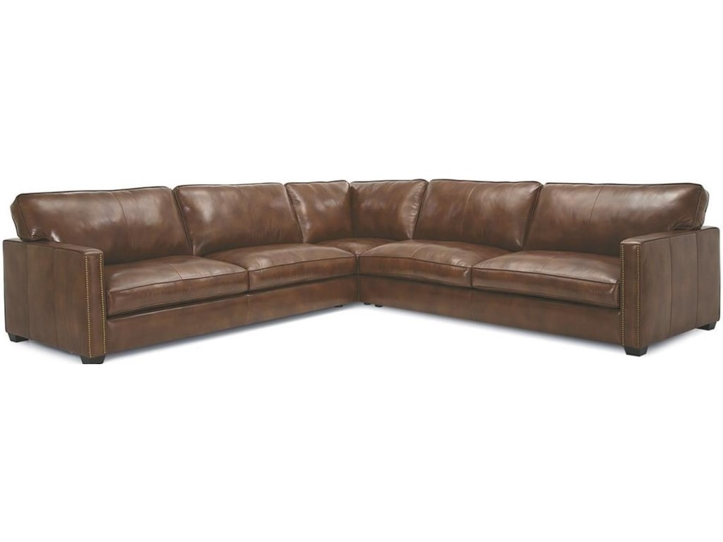 Palliser Furniture Bedroom Set Palliser Talia Contemporary Sectional Sofa With Nailhead Trim