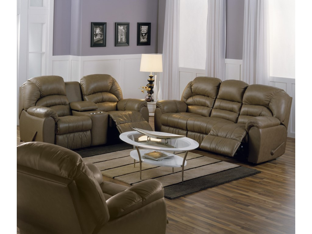 Shown in Room Setting with Reclining Console Loveseat