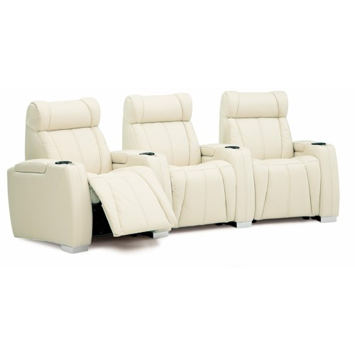 Palliser Turbocharger Three Piece Sectional w/ LED Cupholders