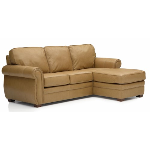 Palliser Viceroy 77492 Transitional Sectional with RHF Chaise