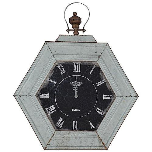 Paragon Clocks Metal Distressed Clock