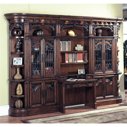 Parker House Barcelona Large Bookcase Desk and Hutch