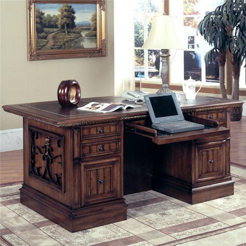 Parker House Barcelona Double Pedestal Executive Desk