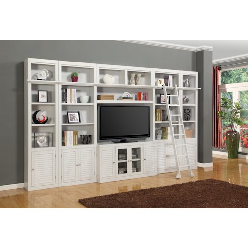 Parker House Boca Six-Piece Entertainment Center Bookcase