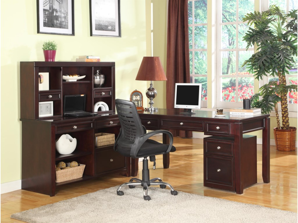 Shown with Hutch, Corner Table, Rolling File and Writing Desk