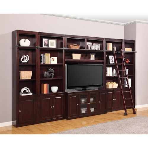 Parker House Boston Six-Piece Entertainment Center Bookcase