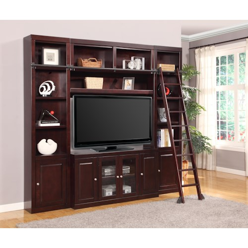 Parker House Boston Four-Piece Entertainment Center Bookcase